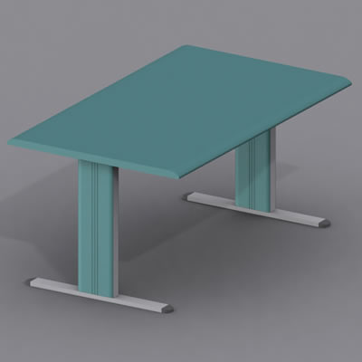3d model modular office table