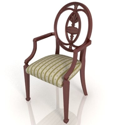 3d classic style chair model