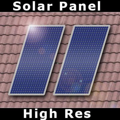 solar panel - 3d model