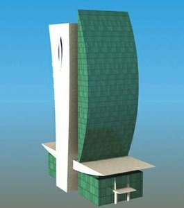 3d model dubai national bank