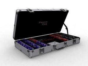 poker chip box 3d model