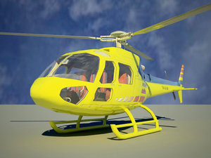 helicopter eurocopter 350 3d model