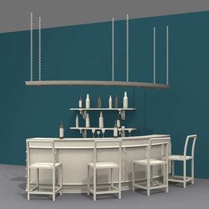 3dsmax bar interior