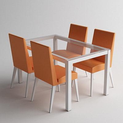 3ds max table scandinavian