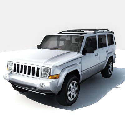 3d model 4x4 jeep commander