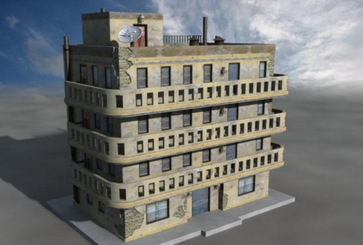 3d model arab apartment building