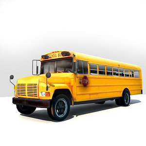 3d model bus polys
