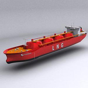 gas carrier 3d model