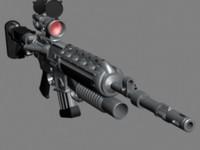 3d m16 rifle model