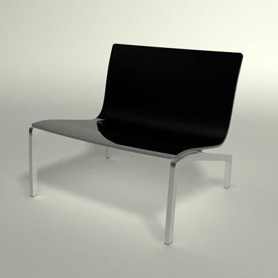 3d lissoni lounge chair