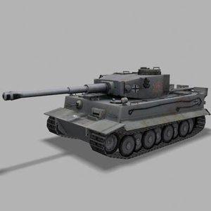 german tank tiger 3d model