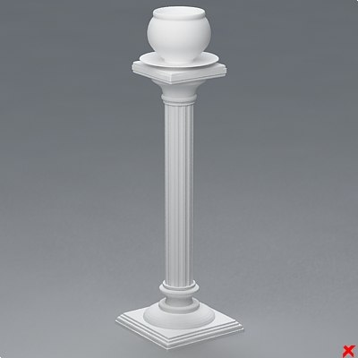 flower stand 3d dxf