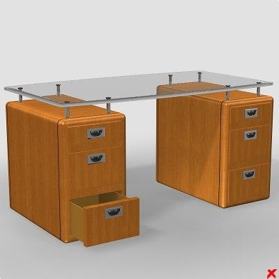 3d model of desk writing
