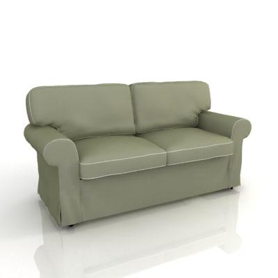3d 2 seater sofa model