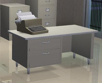 free classic desk 3d model