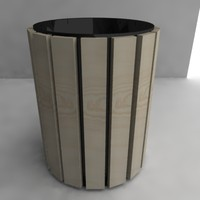 3d bin trash dustbin model