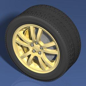 automobile wheel tire 3ds