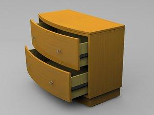 3d drawer chest model