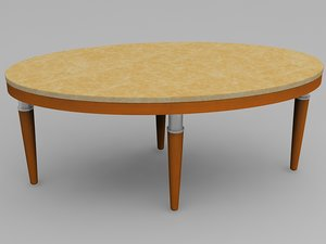 oval table 3d model