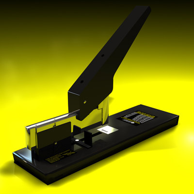 3d stapler metal model