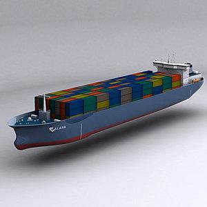 watercraft cargo carrier 3d model