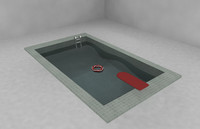 Small pool in the room