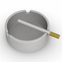 ashtray cigarette 3d model