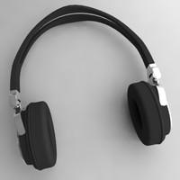 headphones head phone 3d lwo