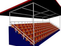 stadium seat 3d max