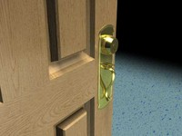 maya brass door knob