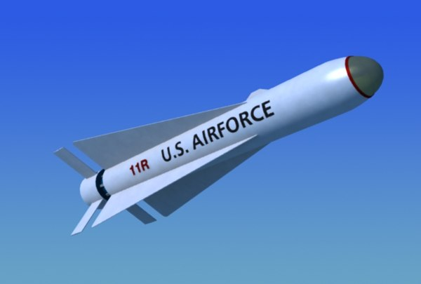 3d model agm-65 maverick guided missile