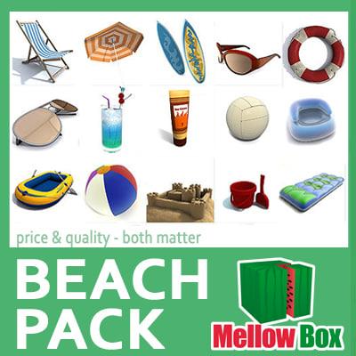 3d model beach pack