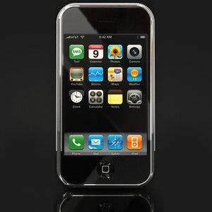 apple iphone cellular phone 3d model