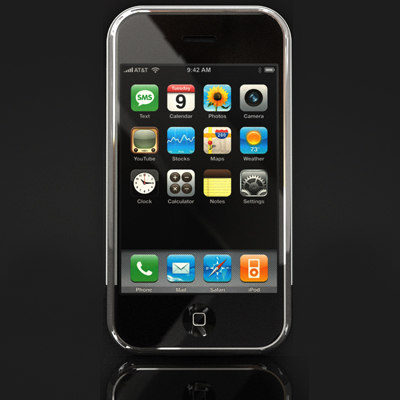 apple iphone cellular phone 3d model