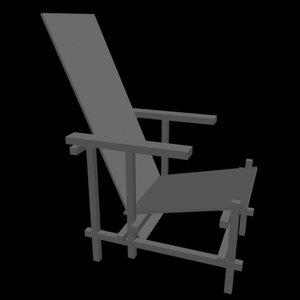 chair gerit 3d model