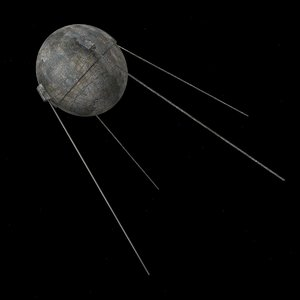 sputnik satellite spacecraft 3d model