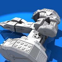 3d model of space ship
