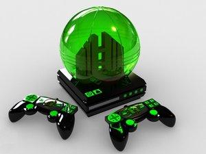 okama gamesphere games console 3d model