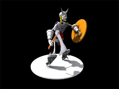 3d character undead model