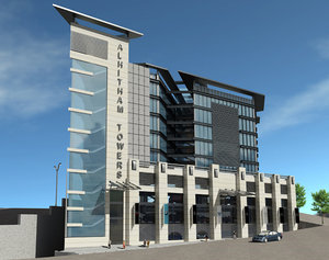 commercial office buildings 3d model