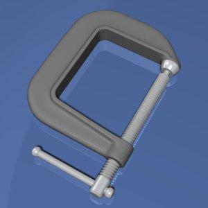 3d model c clamp
