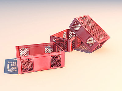 plastic box 3d model
