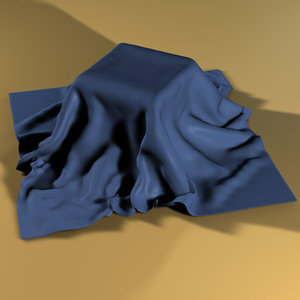 3d draped cloth model