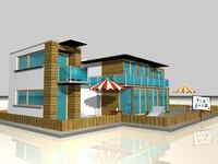 house building 3d c4d