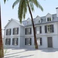 3d house residential buildings model