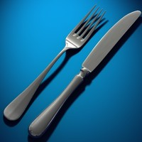 fork knife 3d model