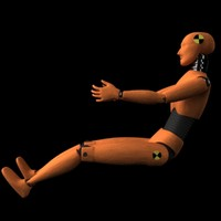 car crash test dummy 3d model