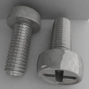 screw 3d obj