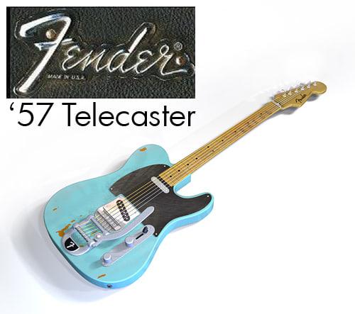 fender telecaster electric guitar 3d 3ds