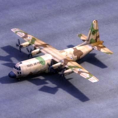 hercules transport israeli military 3d model